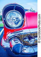 classic vintage car details at a car show