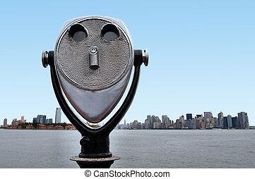 el, contorno, Manhattan, nuevo, York