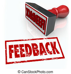 Feeback Stamp Word Approval Opinion Comment Review - A red...