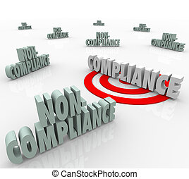 Compliance Vs Non Compliant Words Targeting Goal - The word...