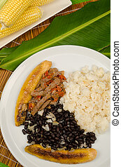 Venezuelan food - Venzuelan pabellon criollo, a South...