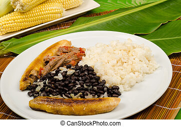 Pabellon criollo, a Venezuelan classic gathering some of the...