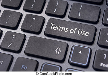 terms of use, message on keyboard - a message on keyboard,...