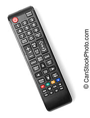 Remote control isolated on white background.