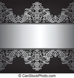 jewelry frame - Background with silver jewelry frame