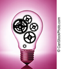 gears in a light bulb