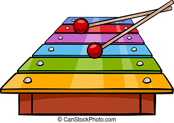 xylophone clip art cartoon illustration - Cartoon...