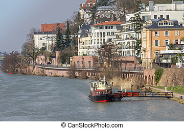 Heidelberg and Neckar river view - Heidelberg and neckar...