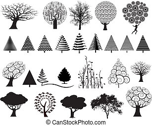 27 vector trees - choice of 27 vector trees in a variety of...