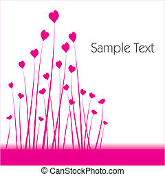 Heart shaped flower background