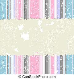 Retro striped grunge background (vector)