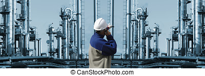 refinery worker, oil and gas instal - engineer, worker...