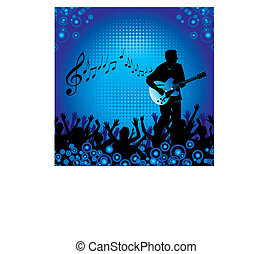 guitar player - A background with people at a concert...