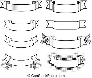 Illustrations clip art vecteurs de banderoles 18 992 - Dessin banderole ...