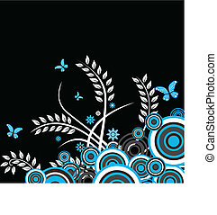 floral vector background - An abstract floral vector...
