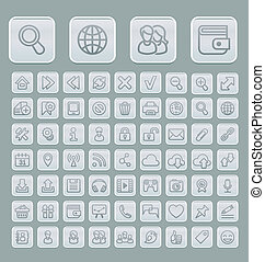 Universal Web Icons Set Soft Grey E
