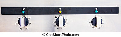 Cooking Oven Control Panel - Control buttons of an electric...
