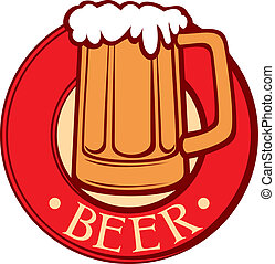 beer mug beer label