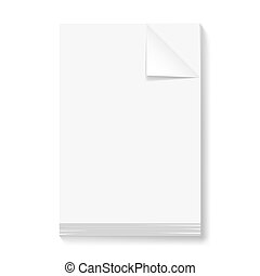 Stack of blank papers Illustration on white background for...