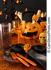 Halloween place setting