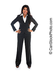 african american business woman isolated on white full body...