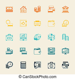 Set of business and banking icons