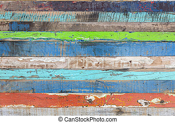 Painted weathered wood as background