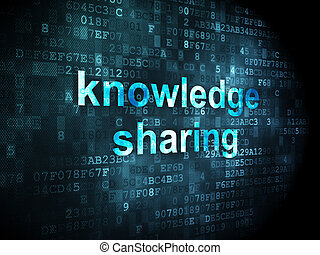 Education concept: Knowledge Sharing on digital background -...