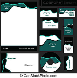Corporate identity template. Editable set. Design including...