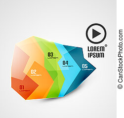 Glossy abstract geometrical business infographics