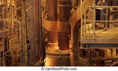 Electric smelting furnace - Melting of steel and lifting...