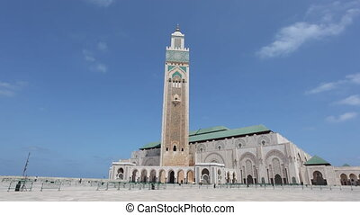 Mosque in Casablanca, Morocco - Great Mosque of Hassan II in...