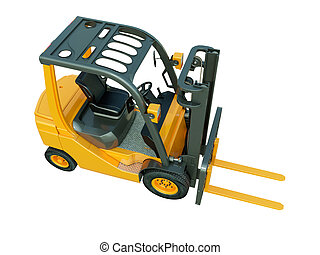 Forklift truck isolated - Modern forklift truck isolated on...