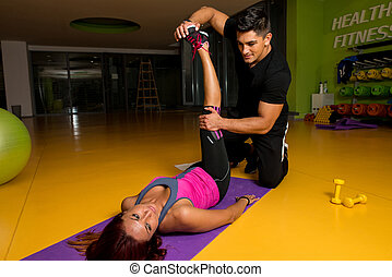 Physical Therapy - Hip - A massage therapist helps with...