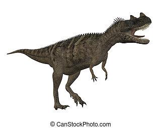 Ceratosaurus Dinosaur isolated on white background