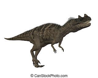 Ceratosaurus Dinosaur isolated on white background