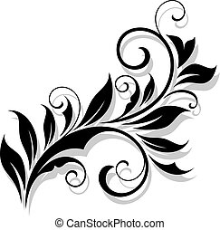 Floral design element in a refined style. Vector...