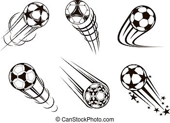 Soccer and football emblems for sport and championship...