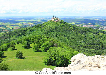 Hohenzollern Castle - View from the top of Zeller Horn to...