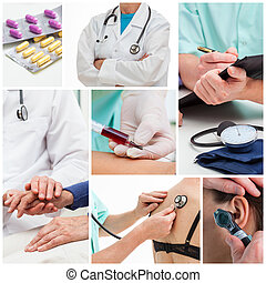 Medical collage - Collage of examinations at doctor office