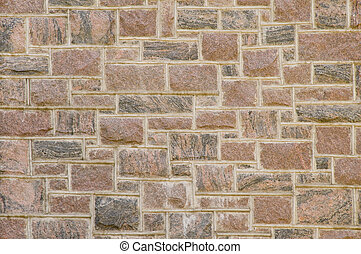 Reddish masonry block wall