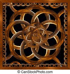 dekorativ, verfeinert, Holz, hintergrund