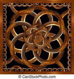 Refined Wood Decorative Background