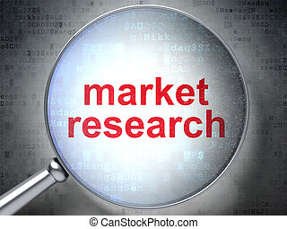 Advertising concept: Market Research with optical glass