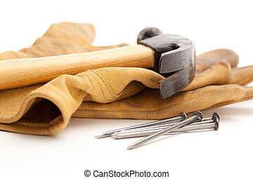 Hammer, Gloves and Nails