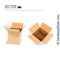 Collection of Cardboard boxes. Vector illustration.