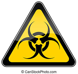 Biohazard sign isolated on white