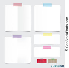 Collection of various note papers, ready for your message....