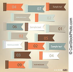 Set of note papers, ready for your message. Vector...