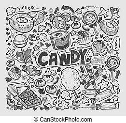 doodle candy elements